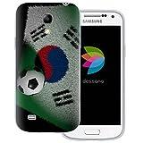 dessana WM 2018 Weltmeisterschaft transparente Silikon TPU Schutzhülle 0,7mm dünne Handy Tasche Soft Case für Samsung Galaxy S4 mini Südkorea