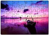 Kopierladen Puzzle mit eigenem Foto aus Holz selbst gestalten inkl. Schachtel, gelasertes Fotopuzzle mit eigenem Motiv oder Text, Holzpuzzle mit 48 Teilen, ca. 400 x 290 mm