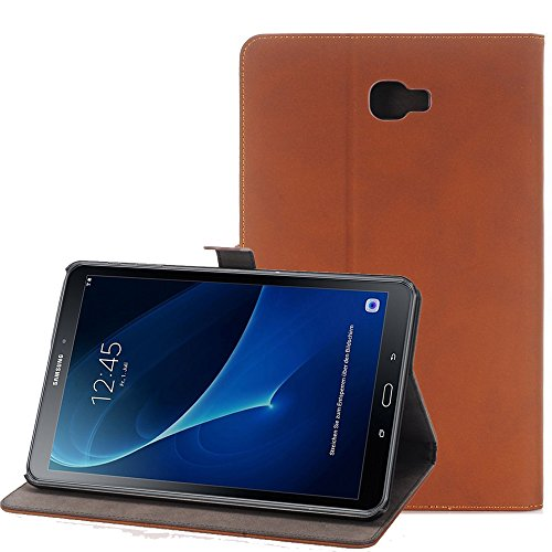 Samsung Galaxy Tab A 10.1 Fall, TechCode® PU LUXUS LEDER HÜLLE Für Samsung Galaxy Tab A 25,7 cm (2016 Version sm-t580 N sm-t585 N) – mit integriertem Ständer/Smart Cover Auto Wake & Sleep - 2