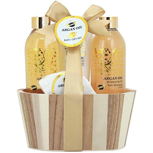 Gloss! Coffret Cadeau - Coffret de Bain en Bois Collection Argan Oil Senteur Argan - 4pcs