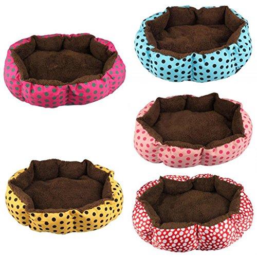 Hot Verkauf Polka Dot Print weiches Material House Katze Hund Erwärmung Bed Pet Cat und Dog Pet Nest Schlafsack rot (Schlafsäcke Rabatt)
