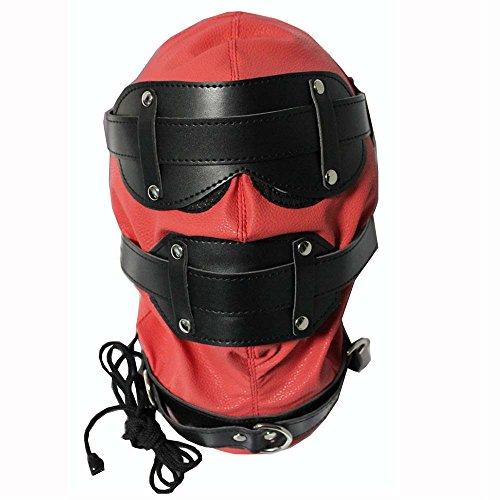 ven Maske Masken Cosplay Maske Halloween Masquerade Masken Kostüme Spandex Schwarz Bondage Leder Kopf Maske SM MK850402 ()