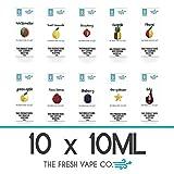 Natural L 10x10ml Set E-Líquido para cigarrillos electrónicos 0,0MG...