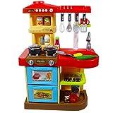 """deAO Kinder-Küchenspielset """"My Little Chef""""(""""Mein kleiner Koch"""") mit 30-teiligem Zubehör in den Farben Rot oder Pink erhältlich - 5"""