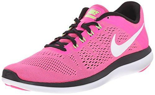 blk Uk Bianco rosa Scarpe Corsa Rosa Nike elctrc Grn Scoppio Donna 2016rn Di Gara Flex 40nxR7qa