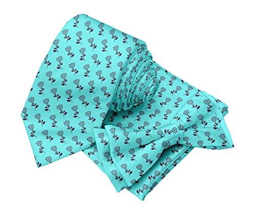 BESTMAN Männer Krawatte Krawatte mit Einstecktuch bedruckt Zubehör-Set -