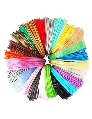3D Stift Filament 24 Farben 3M PLA Filament 1.75mm 3d stifte farben für 3D Stift, kompatibel mit ODRVM, Tipeye, Uvistare, Lovebay, PLUSINNO, QPAU, Canbor, Juboury, Nexgadget und dikale 3d Pen 3D Druckstift von MKOEM - 3