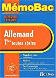 MEMO PREPA EXAM ALLEMAND TERM (Ancienne Edition)