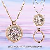 Meilanty Coin 33mm Edelstahl Rose Gold Orientalisch Damen Halskette mit 80cm Ketten WZ-20-01