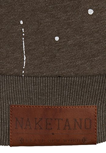 Naketano Male Sweatshirt Son of a Pimp Olive Melange
