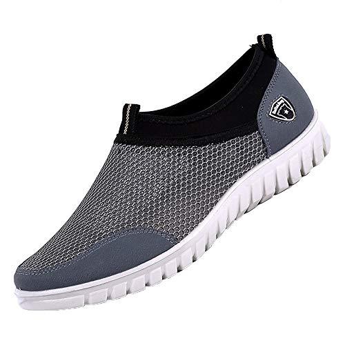 Manadlian Winterschuhe Herren Freizeitschuhe Lässige Schuhe Turnschuhe Mesh Atmungsaktiv Bequeme Schuhe Müßiggänger