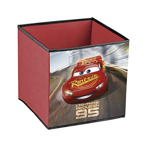 Arditex WD12124 - Cubo de almacenamiento (31 x 31 x 31 cm), color rojo oscuro