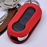 Soft Case Schutz Hülle Auto Schlüssel Klappschlüssel Citroen Jumper Peugeot Boxer FIAT Ducato 500 Punto Doblo Panda ab ´06 / Farbe: Rot