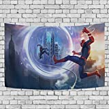 Fashion DIY - Tapisserie Murale Avengers Spiderman - Décoration à Suspendre pour Appartement, Maison, Chambre à Coucher, Salon, dortoir - 152,4 x 101,6 cm 80x60(in)