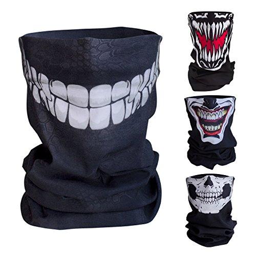nktionstuch / Motorrad Totenkopf Maske / Face Shield / Sturmmaske - fürs Fahrrad / Ski / Snowboard / Paintball / Klettern / Wandern - [Grinsekatze / Muster] (Ist Halloween Noch)