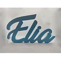 Nome in legno scritta decorativa da appoggio in corsivo o font disney targa personalizzata da appendere in cameretta…
