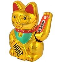 Iso Trade Gato Chino de la Suerte Dorado Maneki-Neko - símbolo de Buena Fortuna