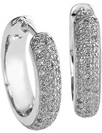 Diamond Line Damen - Ohrringe 333er Gold 88 Diamanten ca. 0,40 ct., weißgold