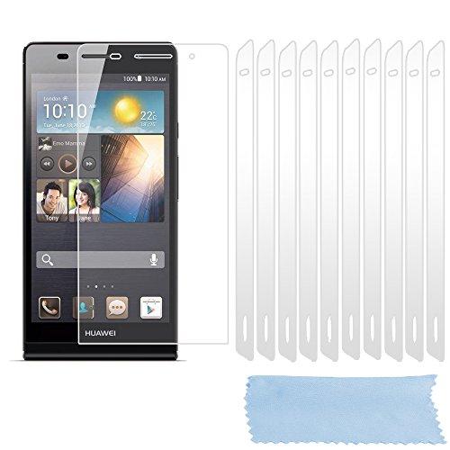 Cadorabo DE-102250 Bildschirmschutzfolien für Huawei Ascend P6 10 Stück hochtransparenter Schutzfolien gegen Staub, Schmutz & Kratzer High Klar