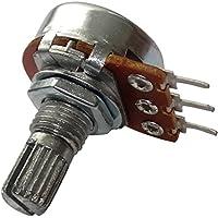 AERZETIX: 10 x Potenciómetro rotativo mono logaritmico 50k? 63mW PCB eje moleteada 6mm 9mm Ø17x9.2mm 150V C15044
