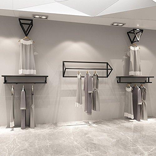 Attaccapanni XIAOYAN Negozio di Abbigliamento Espositore Semplice sul Muro Appendiabiti per Donna Scaffale per Bambini (Dimensioni : 360cm)