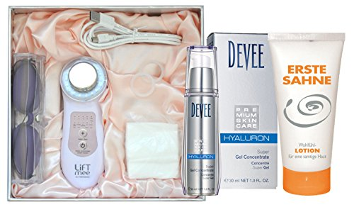 Liftmee Ultrasonic - das proffessionelle Ultraschallgerät mit 3 MHz + Devee Hyaluron Super Gel 30 ml + Gratis Bodylotion 100ml