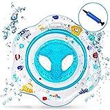 Flotador bebé, Piscina Hinchables Niños Flotadores para Bebe con Asiento Anillo de Natación para Bebés de 1-4 Años, Inflable Juguetes Regalos ... (Azul)