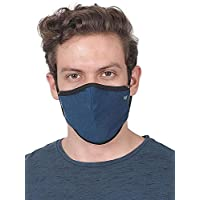 WILDCRAFT SUPERMASK W95 Plus Reusable Outdoor Respirator With Neckband (MEDIUM 40-70KG) (PACK OF 3, GRINDLE : BLU_TURKSH)
