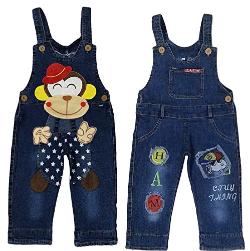 Miss U Boys Wear High Quality Soft Applique Overall Jumper Pants Romper...