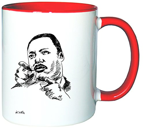 Price comparison product image Mister Merchandise Mug Coffee Pot Martin Luther King Teacup Cup many colors