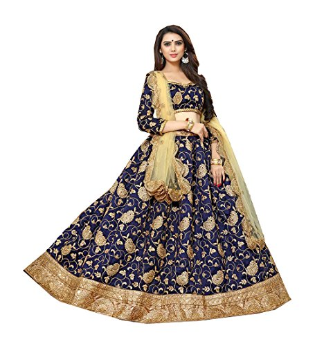 Indian Designer Partywear Ethnic Traditional Blue Lehenga Choli Net Salwar