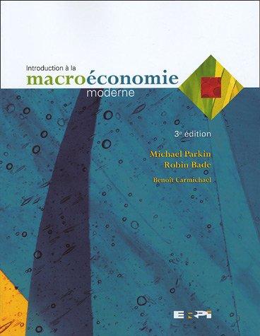 Introduction à la macroéconomie modern...