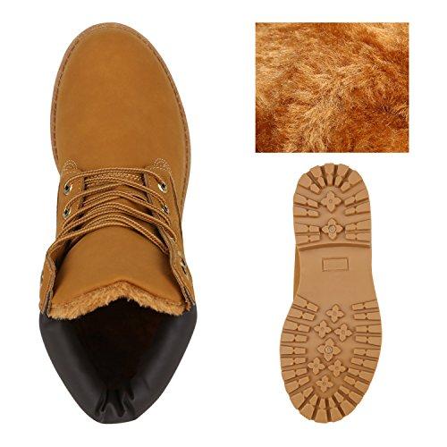 Unisex Damen Herren Warm Gefütterte Damen Worker Boots Stiefeletten Outdoor Flandell Hellbraun Prints
