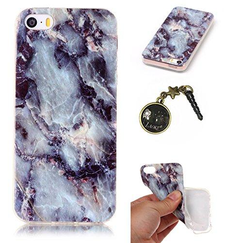 TPU Cuir Coque Strass Case Etui Coque étui de portefeuille protection Coque Case Cas Cuir Swag Pour iPhone 5 / 5s / SE +Bouchons de poussière (4NG)