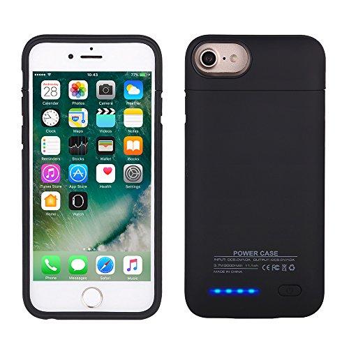 Funda batería iPhone 6,6S,7 4.7, Mbuynow 3000mAh Cargador Batería integrada Recargable Carcasa funda cargador, Negro