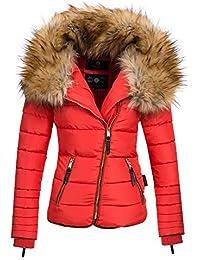 Navahoo AZU Damen Winter Jacke Parka Steppjacke großer Kunst-Fellkragen XS-XL