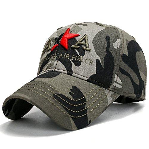 Baseball Cap Hut Outdoor-Camouflage-Stickerei Freizeit Mütze Visier Hüte  Männer, militärische Tarnung 818bd5b7e0