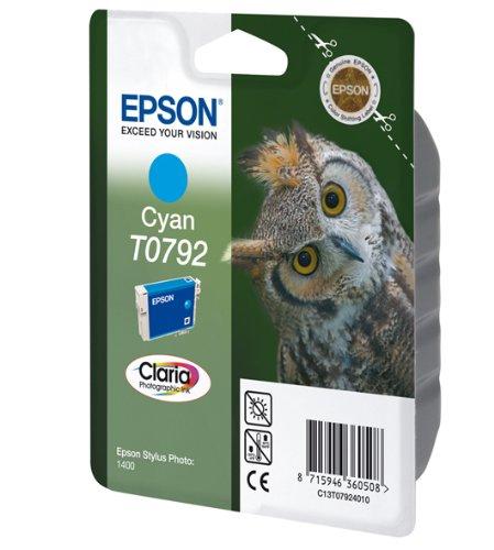 Epson T0792 Cartouche d'encre d'origine Claria cyan pour SP 1400