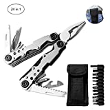 Multi-Tool Pliers Set,Folding Pliers 24-in-1 Portable Pocket Suspension Include 14 Tools with 11