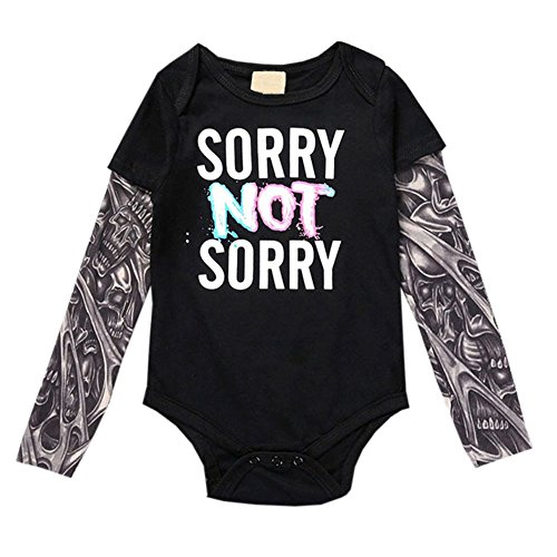 Dintang Familie Erwachsene Kind Infant Strampler Kleinkind Druck T-Shirt Casual Langarm Tattoo Kleidung -