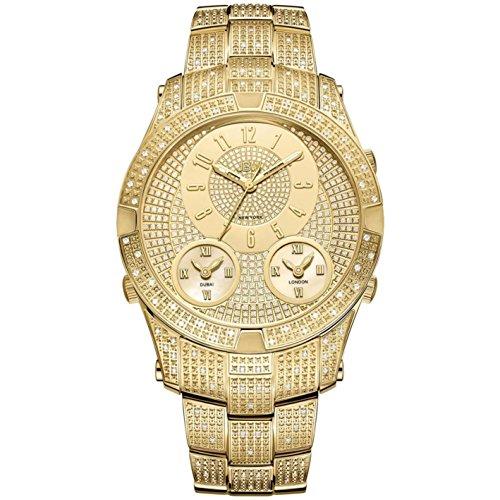 Jbw Diamond orologio da uomo in acciaio INOX jet Setter III