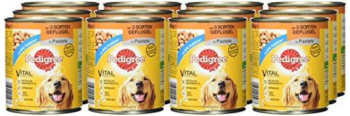Pedigree Adult Hundefutter 3 Sorten Geflügel, 12 Dosen (12 x 800 g) - 2