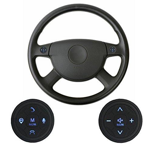 XISEDO Botones de Control del Volante Botones Externos para el Control del Volante 10 Teclas Control Remoto Inalámbrico Universal para Autoradio, Navegador GPS, Reproductor de DVD