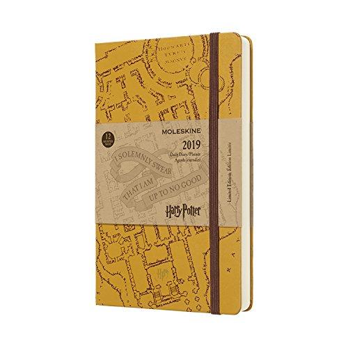 Moleskine 2019 Agenda Giornaliera Harry Potter 12 Mesi, in Edizione Limitata, Large, Beige