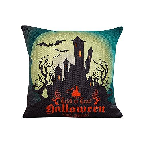 iYmitz Halloween Kissenbezug Kissen Schlafsofa Home Decor Cover(B-Multicolor,45X45cm)
