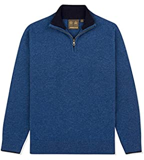 Musto Shooting Zip Neck Knits Large Toffee