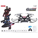 Wembley Toys Pro Quad Drone With 2.4 Ghz Remote Control, Blade Guard And Headless Mode