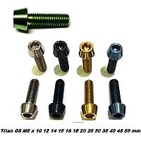 F26titanio M5vite DIN 912conica, nero, 18 mm