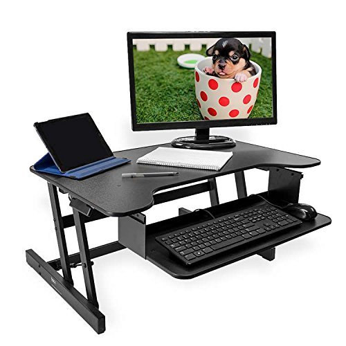 RÜCKEN Stehpult | Höhenverstellbarer Sitz-Steh-Arbeitsstation | Schreibtisch für Desktop-Computer...