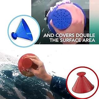 LCLrute Scrape A Round Magic Cone-Shaped Windshield Ice Scraper Snow Shovel Tool (Blau)
